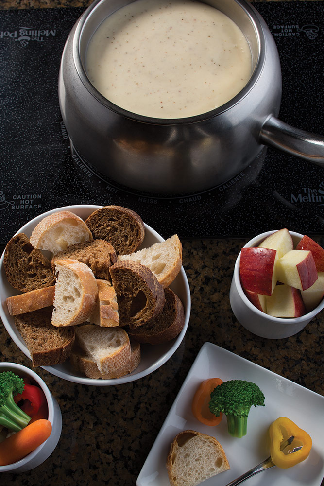 At The Melting Pot, fondue truly becomes a memorable four-course dining experience where patrons can dip into something different - and discover all the ingredients for a unique dining experience including a relaxed atmosphere, private tables, attentive service, fine wines and signature fondue dinners.