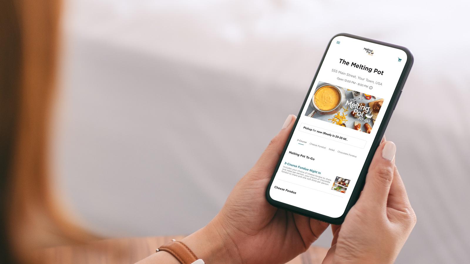 Ordering Melting Pot Take-Out Online