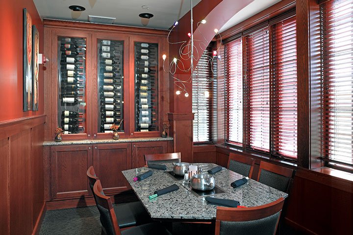 Melting Pot wine room in Farmingdale, NY