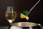 Broccoli and Cheese fondue at The Melting Pot