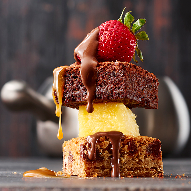 Specialty desserts at The Melting Pot Fort Collins, Colorado