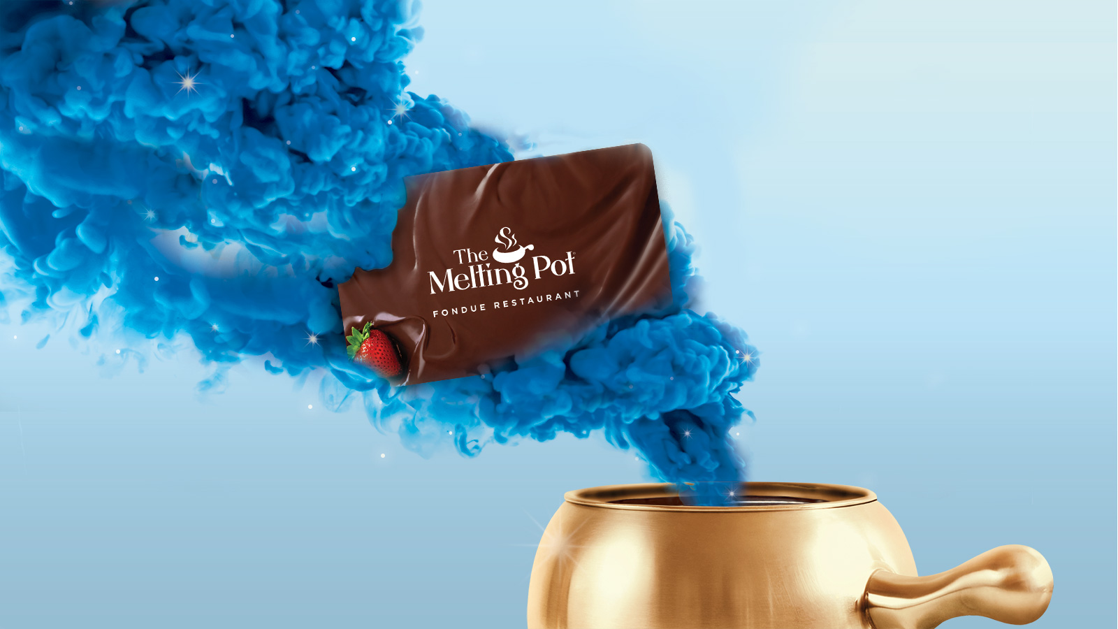 Give the gift of fondue with Gift Cards to The Melting Pot. Available in amounts of $25, $50, $75 and $