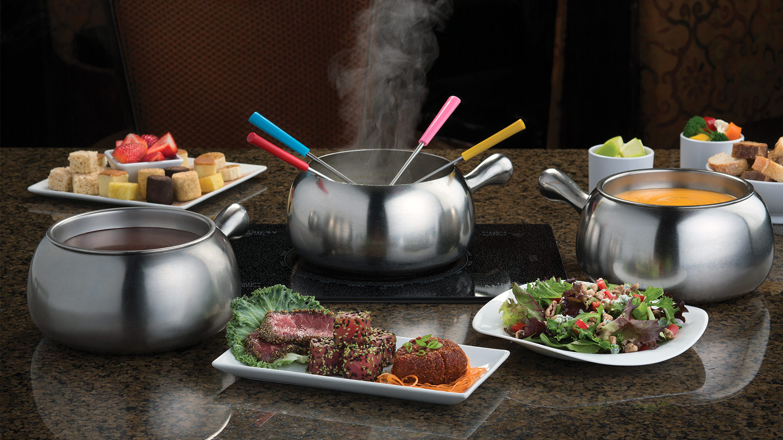 Melting Pot OKC Fine Dining Fondue Restaurants in  : hero menu from www.meltingpot.com size 1600 x 900 jpeg 327kB