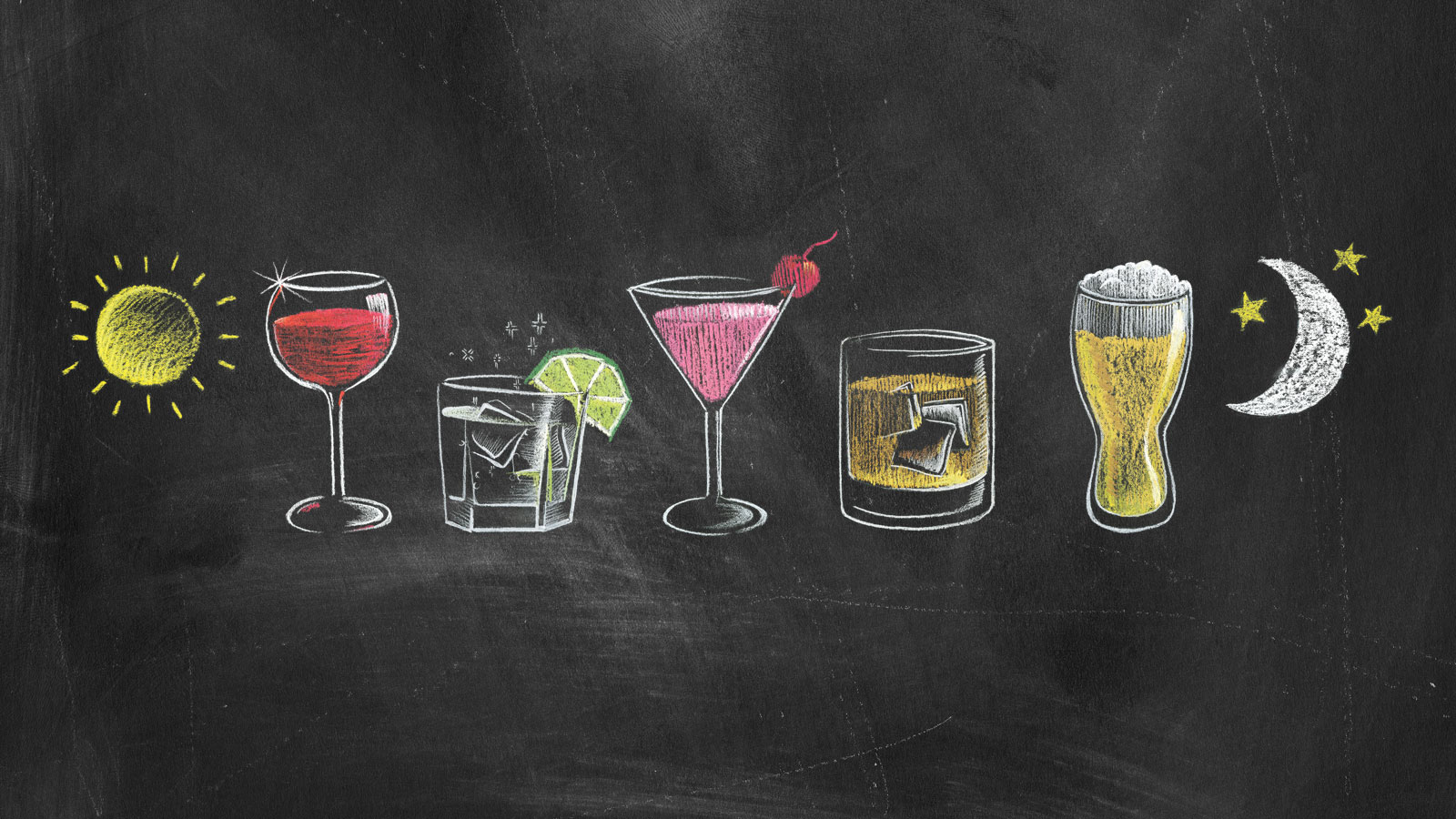 Drawings of alcoholic beverages