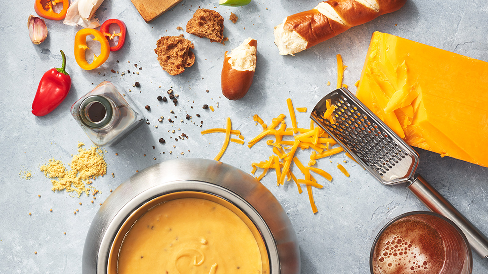 Cheddar Cheese Fondue Ingredients